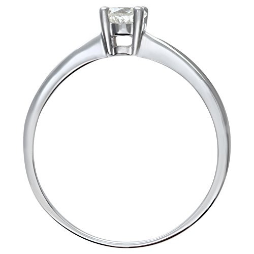 Naava - Bague Femme - Or Blanc 375/1000 (9 Cts) 2.1 Gr - Diamant