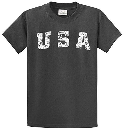 Joe's USA(tm) -Tall Vintage USA Logo Tee T-Shirts in Size 3X-Large Tall -3XLT