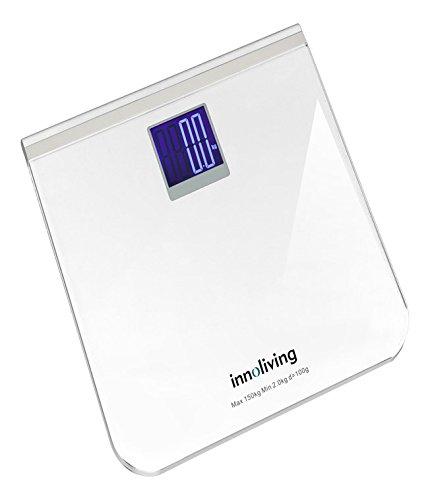 Innoliving INN-118 Electrónico Plaza Color blanco - Báscula de baño (Analógico, Color