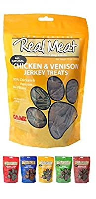 Real Meat Chicken & Venison Jerky Dog Treats