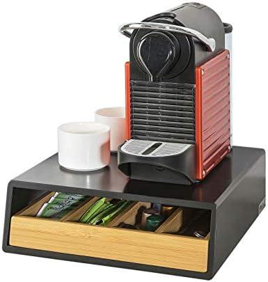 SoBuy FRG280-SCH Contenitore Porta Capsule e Cialde Caffè Nespresso 4 scomparti in legno