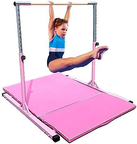 Gymnastics Kip Bar Horizontal Tumble Bar Jungle Gym Adjustable 5 FT Playground