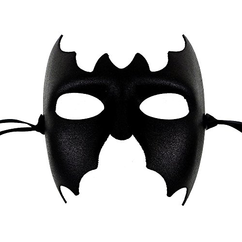 Batman Mens Black Masquerade Mask - Italian Superior Quality from Samantha Peach