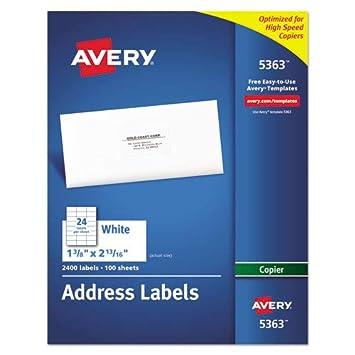 Amazon.com: ave5363 – Avery Etiquetas De Dirección adhesivas ...