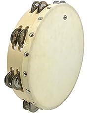 "GMP 10"" Wood Tambourine, Double Row, with Head"