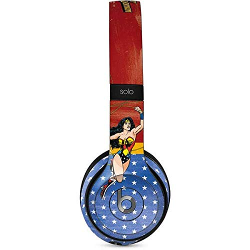 Skinit Wonder Woman Ready to Fight Beats Solo 2 Wired Skin - Officially Licensed Warner Bros Audio Decal - Ultra Thin, Lightweight Vinyl Decal Protection