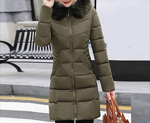 sottile Giacca da Spessa caldo Qualità cappuccio Cappotto Armeegrün eccellente Accogliente Tight selvaggia Moda donna calda Cappotto Donna Pelliccia sintetica Per Inverno con lungo wdvW4OHqn