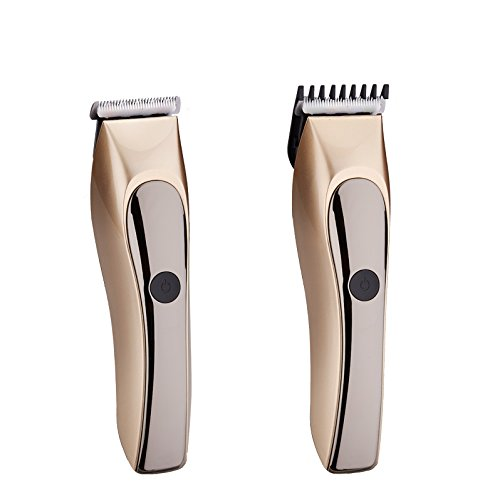 JD Rechargeable Cordless Hair Clipper for Men Women Babky Kids with Wet Dry Convenience Ultra Quiet Professional Hairtcuts (Gold)