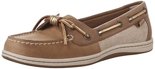 Sperry Top-Sider mujeres de Barrelfish Boat Shoe Linen/Gold