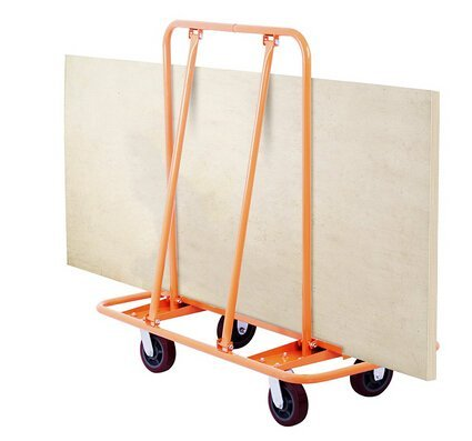 Happybuy Drywall Dolly 2000Lbs Weight Capacity Drywall Cart with Two Fixed and Two Swivel Casters Sheetrock Cart for Handling Heavy Panel (2000Lbs) by Happybuy (Image #1)