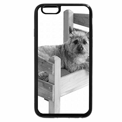 iPhone 6S Case, iPhone 6 Case (Black & White) - Dog in Bed