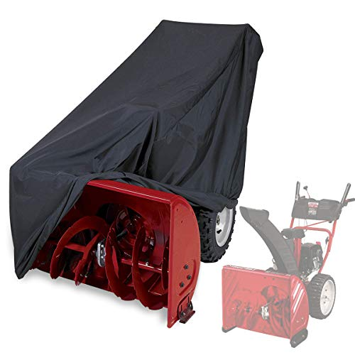 EFFT Life Snow Thrower Cover Waterproof UV Protection Universal Size for Most Electric All Weather Two Stage Snow Blowers with Carry Bag