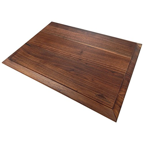 Tomokazu Reversible Edge Grain Walnut Wood Cutting Board – 19.7 x 14 x 1 in - Large (Board Edge Chess)