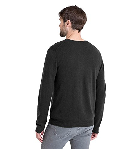 WoolOvers Pull à col V - Homme - Cachemire & mérinos Charcoal, XL