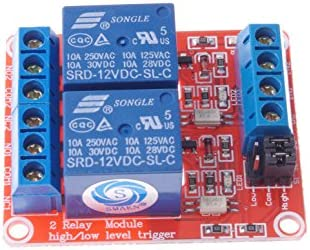 SMAKN/® 2CH Isolated Optocoupler High Low Level Trigger Relay Module 5VDC