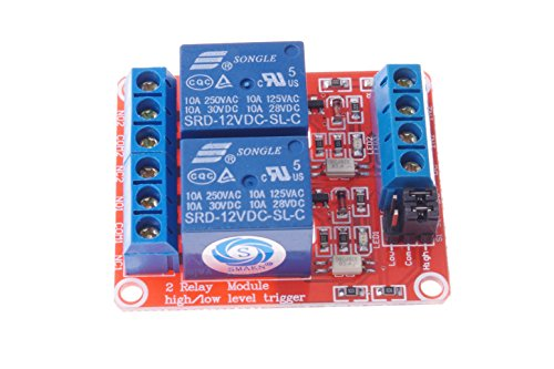 Smakn U00ae Dc 12v 2ch 2 Channel Isolated Optocoupler High  Low Level Trigger Relay Module