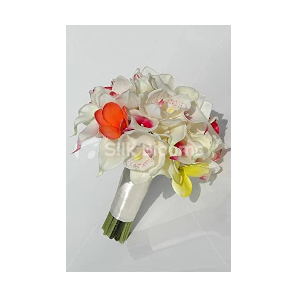Tropical Bridal Bouquet with Frangipanis, Orchids & Calla Lilies