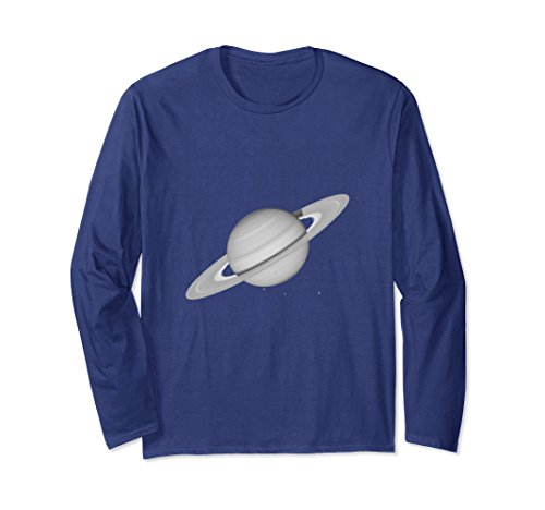 Unisex Saturn Shirt, Solar System Planet T-Shirt Small Navy