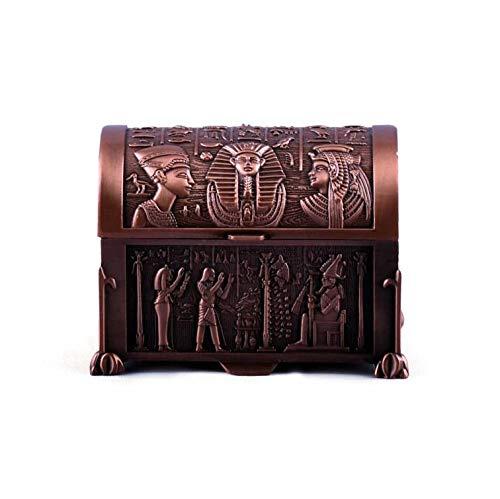 Egyptian Vintage Bronze Jewelry Box Pharaohs Trinket Box
