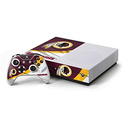 Washington Xbox Controller Redskins - Skinit NFL Washington Redskins Xbox One S Console and Controller Bundle Skin - Washington Redskins Design - Ultra Thin, Lightweight Vinyl Decal Protection