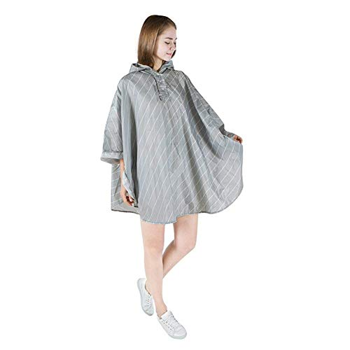 De Engranaje Raincape Outdoor Rainwear Huixin Con Lluvia Poncho Grey Impermeable Unisex Capucha wStfBq
