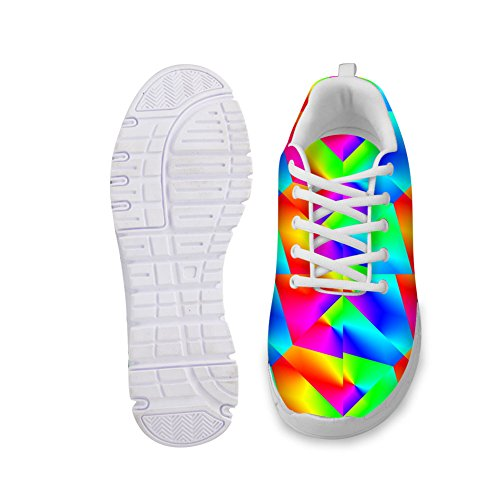 Fashion IDEA Color Colorful HUGS Bright Sneakers Womens Running Casual 2 A6HnIqF