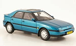 Mazda 323 F, azul metálico , 1992, Modelo de Auto, modello completo, Neo 1:43