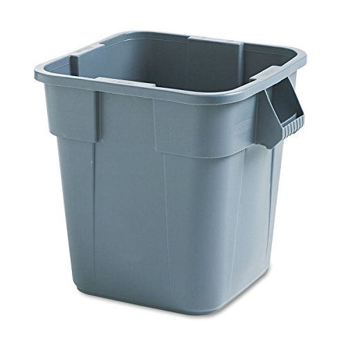 Rubbermaid 352600GY Brute Container, Square, Polyethylene, 28gal, Gray