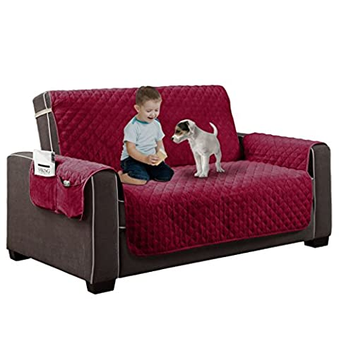 Home Dynamix Reversible Couch Cover   Spills, Stains, Rips & Wear Protector (Couch Cover Ottoman)
