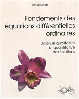 Equations différentielles ordinaires Etudes qualitatives