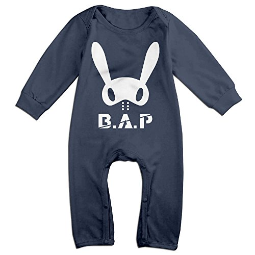[KIDDOS Baby Infant Romper B.A.P Long Sleeve Jumpsuit Costume,Navy 6 M] (Blues Clues Costumes Toddler)
