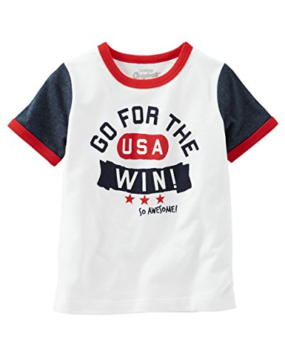 OshKosh B'gosh Big Boys' USA Graphic Tee (14 Kids, Ivory)