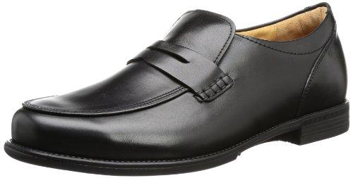Ganter Greg, Weite G - Zapatillas de casa de cuero hombre negro - Schwarz (schwarz 0100)