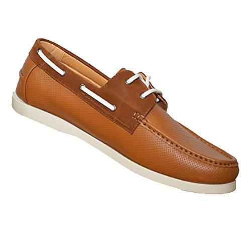 Duke Herren D555 Big Hoch king-Size CADE Perforiert Klassisch Boot Schuhe Tan