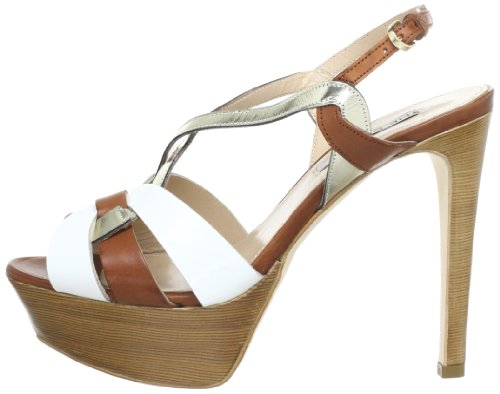 S1473 Marron cuoio Seller The Sandales Femme H5Fgx