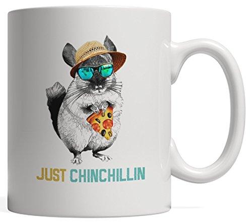 Just Chins Chillins - Just Chinchillin, Beautiful Chinchilla Mug ()