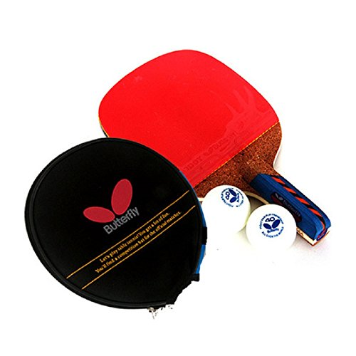 Butterfly NAKAMA LD Table Tennis Racket Paddle (Penhold Hand Grip) + Paddle Case!!