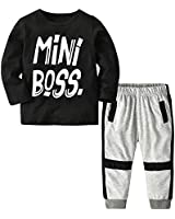 Baby Boy Long Sleeve Mini Boss Printing Top and...