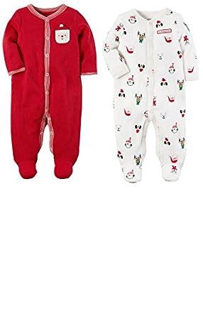 carters baby 2 pack my first christmas sleep and play pajamas