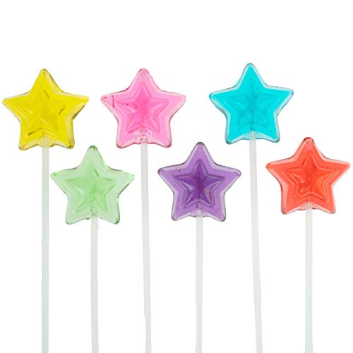 Twinkle Pops Lollipop, Stars Shapes (Pack of 120 Lollipops), 12 inch Long Lollipop Stem, Handcrafted in USA, 6 Vibrant Colors, Fruit Flavors, 37.80 Ounce by Sparko Sweets -