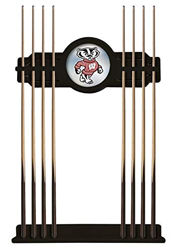 Holland Bar Stool Co. Wisconsin Badger Cue Rack in Black Finish