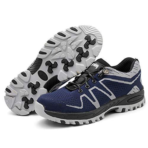 Antinfortunistiche Scarpe Traspiranti Scarpe per Sportive Acciaio Scarpe Corsa in Lavoro Grigio da Acciaio Sportive junkai E da Sneakers Esterno p4Iwxt1