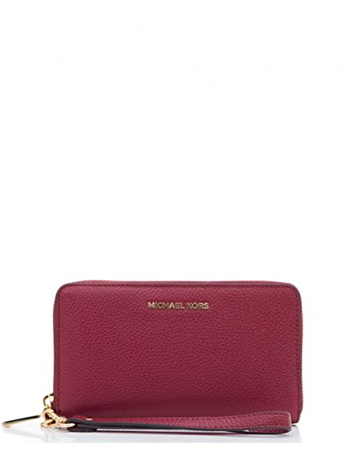 MICHAEL Michael Kors Women's Large Flat Phone Wristlet, Mulberry, One Size by MICHAEL Michael Kors