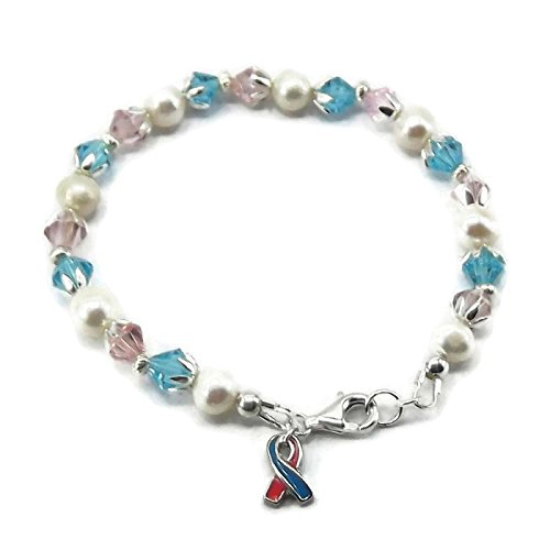 Pink and Blue Infant Loss Miscarriage Awareness Bracelet
