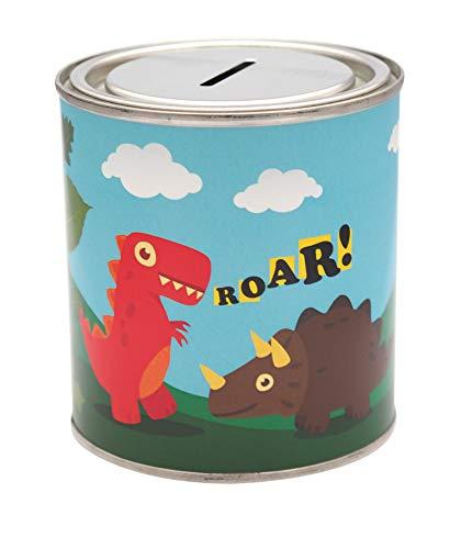 CanTastic Kids Dinosaur Money Savings Tin, Boys Box Can Jar Saver Cash, 500 ml