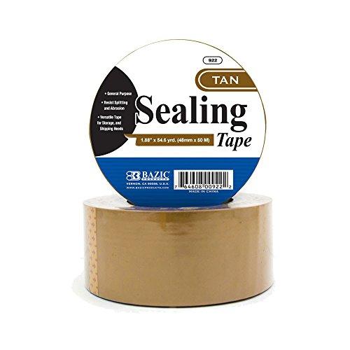 "BAZIC 1.88"" X 54.6 Yards Tan Packing Tape free shipping"