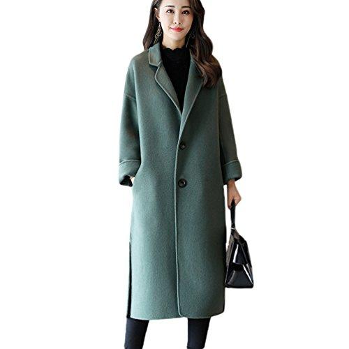 Como YAANCUN Largo Outwear Clásico Europeo Estilo Parka Imagen Sólido Mujer 3 La Abrigo Color Abrigos PvrP0awx
