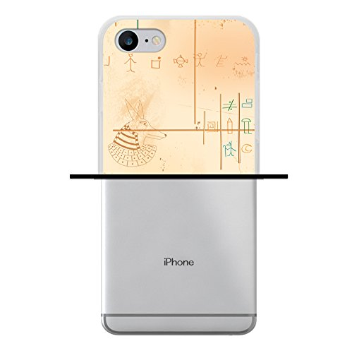 iPhone 8 Hülle, WoowCase Handyhülle Silikon für [ iPhone 8 ] Ägiptische Kunst Handytasche Handy Cover Case Schutzhülle Flexible TPU - Transparent