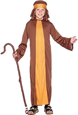 Halloweenia Disfraz de Pastor para niños Juego de Pesebre ...