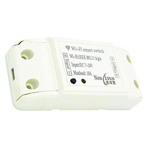 Jili Online 7-24V Smart Jog/Self-locking Remote Control Wireless Switch Module WiFi Home by Jili Online